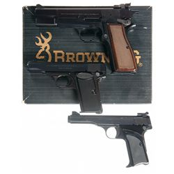 Three Browning Semi-Automatic Pistols -A) Browning High Power Semi-Automatic Pistol with Box