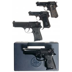 Four Beretta Semi-Automatic Pistols -A) Beretta Model 1934 Semi-Automatic Pistol