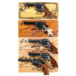 Five Uberti Single Action Revolvers -A) Uberti Cimarron Thunderer Single Action Revolver with Box