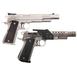 Two Caspian Arms Semi-Automatic Pistols -A) Caspian Arms Government Model Semi-Automatic Pistol