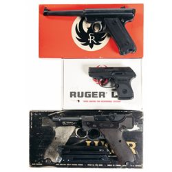 Three Boxed Semi-Automatic Pistols -A) Ruger Standard Model Semi-Automatic Pistol