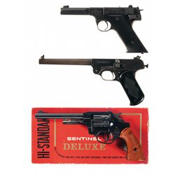 Three Handguns -A) High Standard HD Military Semi-Automatic Pistol