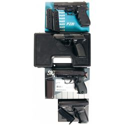 Four Boxed Semi-Automatic Pistols -A) Sig Sauer Model P220 Semi-Automatic Pistol