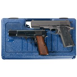 Two Semi-Automatic Pistols -A) Colt Model 1991A1 with Case