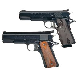 Two Colt Government Model Semi-Automatic Pistols -A) Colt Mark IV Series 70 Gold Cup National Match