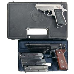 Two Cased Semi-Automatic Pistols -A) Walther Model PPK/S Semi-Automatic Pistol