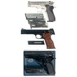 Three Smith & Wesson Semi-Automatic Pistols -A) Smith & Wesson Model 5903 Semi-Automatic Pistol with