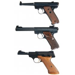 Three Semi-Automatic Pistols -A) Ruger Standard Model Semi-Automatic Pistol