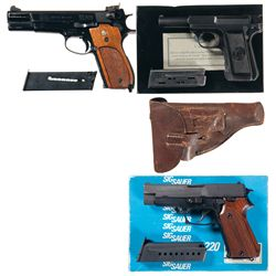 Three Semi-Automatic Pistols -A) Smith & Wesson Model 52 Semi-Automatic Pistol