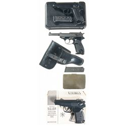 Three Semi-Automatic Pistols -A) Walther Model PP Semi-Automatic Pistol