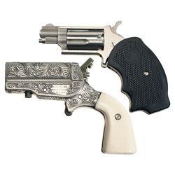 Two Handguns -A) North American Arms Mini Single Action Revolver
