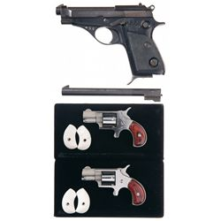 Three Hand Guns -A) Beretta Model 75 Semi-Automatic Pistol with Extra Barrel