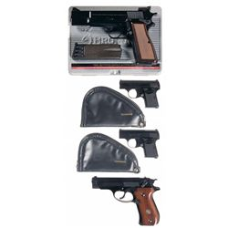 Four Browning Semi-Automatic Pistols -A) Browning High Power Semi-Automatic Pistol with Case