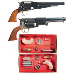 Four Percussion Handguns -A) Euroarms New Army Model Reproduction Percussion Revolver