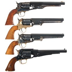 Four European Colt Reproduction Percussion Revolvers -A) Belgian Reproduction Colt 1860 Army Percuss