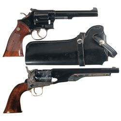 Two Revolvers -A) Smith & Wesson Model 14-3 Double Action Revolver with Holster