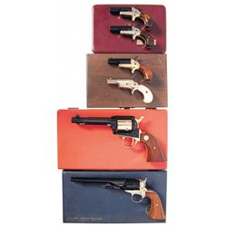 Six Cased Colt Handguns -A) Colt No. 4 Derringer