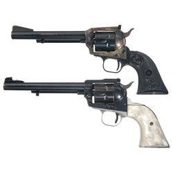 Two Single Action Revolvers -A) Colt New Frontier Single Action Revolver