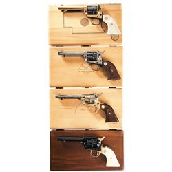 Four Cased Colt New Frontier Commemorative Revolvers -A) Colt Nebraska Centennial Single Action Revo