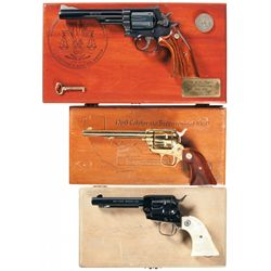 Three Cased Commemorative Revolvers -A) Smith & Wesson Model 19-4 Los Angeles 200th Anniversary Comm