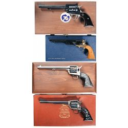 Four Cased Handguns -A) Ruger New Model Single Six Colorado Centennial/ American Bicentennial Single
