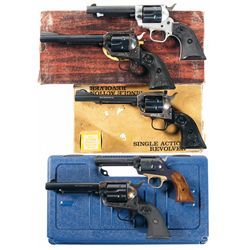 Five Single Action Revolvers -A) Colt Frontier Scout Single Action Revolver
