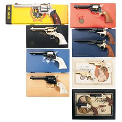 Eleven Hand Guns -A) Ruger Super Redhawk Double Action Revolver with Box
