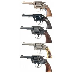Five Colt Double Action Revolvers -A) Colt Police Positive Special Double Action Revolver