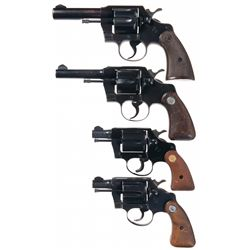 Four Colt Double Action Revolvers -A) Colt Border Patrol Double Action Revolver
