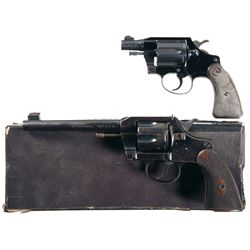 Two Colt Double Action Revolvers -A) Colt Cobra Double Action Revolver