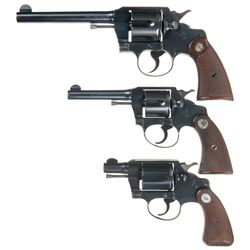 Three Colt Double Action Revolvers -A) Colt Official Police Double Action Revolver
