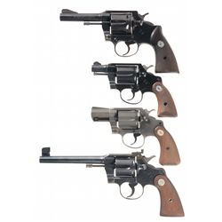 Four Colt Double Action Revolvers -A) Colt Official Police Mark III Double Action Revolver