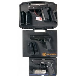 Three Semi-Automatic Pistols with Original Cases -A) Sig Arms SP2340 Semi-Automatic Pistol