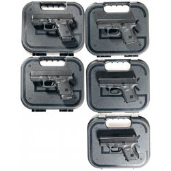 Five Compact Glock Semi-Automatic Pistols -A) Glock Model 29 Semi-Automatic Pistol