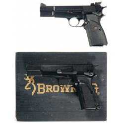 Two Browning High Power Semi-Automatic Pistols -A) Browning High Power Semi-Automatic Pistol