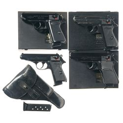 Four Semi-Automatic Pistols -A) Manurhin Model PPK/S Semi-Automatic Pistol with Case