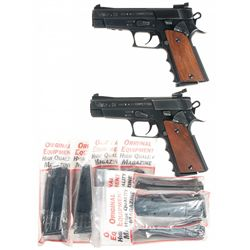 Two Wolf Semi-Automatic Target Pistols -A) Wolf Ultramatic SV Competition Semi-Automatic Pistol