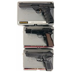 Three Browning Semi-Automatic Pistols with Cases -A) Browning Buck Mark Semi-Automatic Pistol