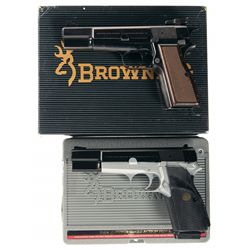 Two Browning Semi-Automatic Pistols -A) Browning High Power Capitan Semi-Automatic Pistol with Box
