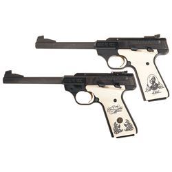 Two Browning Semi-Automatic Pistols with Cases -A) Browning Buck Mark 150th John M. Browning Commemo