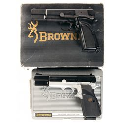 Two Browning High Power Semi-Automatic Pistols -A) Browning High Power Semi-Automatic Pistol with Bo