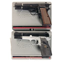 Two Browning Hi-Power Single Action Semi-Automatic Pistols with Cases -A) Browning Hi-Power Semi-Aut
