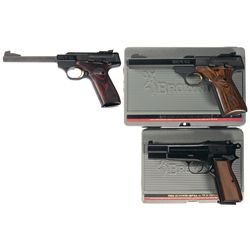 Three Cased Browning Semi-Automatic Pistols -A) Browning Buck Mark Pistol Challenge SE Semi-Automati