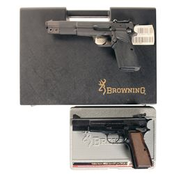 Two Belgian Browning High Power Semi-Automatic Pistols with Cases -A) Browning High Power Semi-Autom