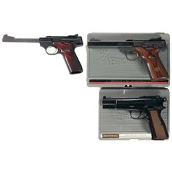 Three Browning Semi-Automatic Pistols -A) Browning Buck Mark Challenge SE Semi-Automatic Pistol