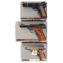 Three Browning Semi-Automatic Pistols with Cases -A) Browning High Power Capitan Semi-Automatic Pist