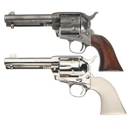 Two Italian Reproduction Single Action Army Revolvers -A) Allen F.A. Co./Uberti Single Action Revolv