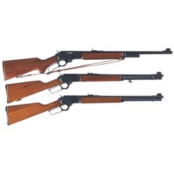 Three Marlin Lever Action Rifles -A) Marlin Model 1895S Lever Action Rifle with Sling