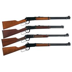 Four Winchester Lever Action Carbines -A) Winchester Model 94 Saddle Ring Lever Action Carbine