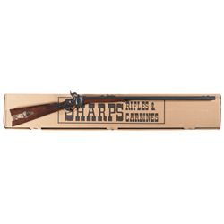 Italian Copy of a Sharps Model 1874 Single Shot Rifle with Box